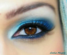beautiful brown eyes made up in blue like and indian princess from ...  www.eyeshadowlipstick.com