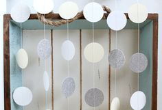 Silver Glitter White Cream 10 ft Circle Paper by FancifulChaos, $10.00