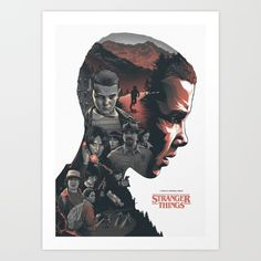 Stranger Things - Poster V1 Art Print