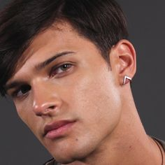 Brown Leather Armchair, Stud Earrings For Men, Triangle Earrings, Black Rhodium, Sterling Silver Earrings Studs, Modern Man, Men's Collection, Religion, Bracelets