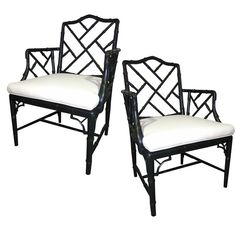 I have a pair of these same faux bamboo chairs sitting downstairs waiting on a makeover. Eventually, I'll get busy and choose a color and upholstery for them.