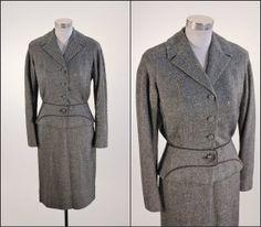 1940's Grey Wool Suit S M / Loual Originals by SquirrelFriendVNTG, $68.00