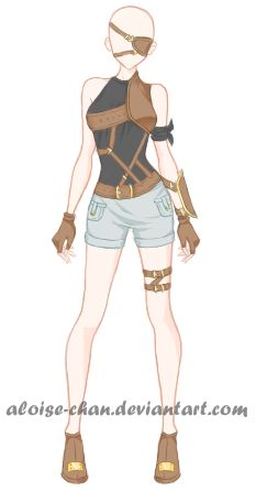 [OPEN] Belt Armour Adoptable by Aloise-chan.deviantart.com on @DeviantArt