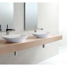 Superb White Counter Top Slim & Smooth Caserta Basin 42cm x 42cm