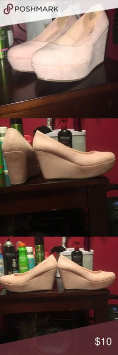 H&M platform shoes Very cute. Suede. Only worn to try on. FIRM Divided Shoes Platforms