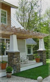Front Porch Pergola Designs Pergola With Gabled Roof