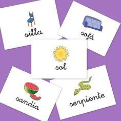 Fichas de imágenes para repasar vocabulario: Letra S - Escuela en la nube | Recursos para Infantil y Primaria