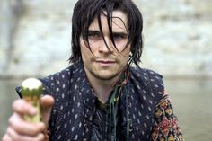"""Hans Matheson as the Earl of Essex in BBC miniseries 'The Virgin Queen' 2005 -- """"Hi. I'm slightly insane."""""""