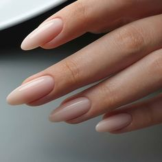 On average, the finger nails grow from 3 to millimeters per month. If it is difficult to change their growth rate, however, it is possible to cheat on their appearance and length through false nails. Are you one of those women… Continue Reading → Almond Acrylic Nails, Cute Acrylic Nails, Cute Nails, Pretty Nails, Long Almond Nails, Natural Almond Nails, Long Natural Nails, Almond Shape Nails, Natural Color Nails