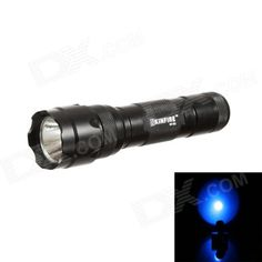 KINFIRE WF502 LED 210lm 5-Mode Blue Light Flashlight - Black (1 x 18650). BLUE light flashlight is suitable for outdoor lighting, fishing or special lighting.. Tags: #Lights #Lighting #Flashlights #LED #Flashlights #18650 #Flashlights