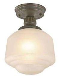 style light schoolhouse light flush mount lighting home depot. Black Bedroom Furniture Sets. Home Design Ideas