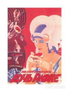 オールポスターズの「Russian Romance Film Poster」高品質プリント