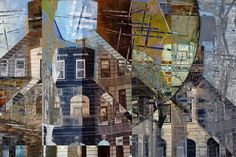 imagining...  a historical imagining of her neighborhood by Anna Mavromatis.   what a layered, complex, fascinating collage