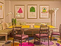 In Good Taste: Philip Gorrivan Design - Design Chic Commercial Interiors, Beautiful Artwork, Colorful Interiors, Coffee Shop, Design Inspiration, View Source, Interior Design, Nooks, Chic