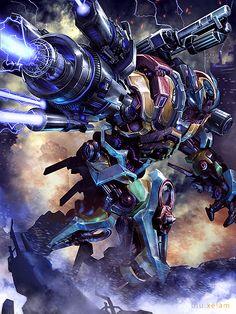Robot Concept Art, Armor Concept, Gundam Wallpapers, Sci Fi Armor, Fantasy Monster, Sci Fi Characters, Epic Art, Science Fiction Art, Transformers