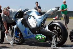 Motoczysz E1pc Electric Superbike 2011.  Though not a fan of electric vehicles, the design is very nice on this bike.