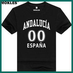 ANDALUSIA shirt free custom made name number sevilla t-shirt print text word malaga cadiz granada huelva almeria spain clothing