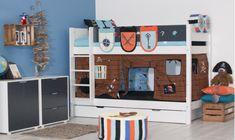 Flexa white stapelbed piraat - Kidsgigant.nl Loft, Furniture, Home Decor, Playroom Design, Pirates, Decoration Home, Room Decor, Lofts, Home Furnishings