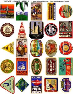 old fashioned luggage tags - Google Search