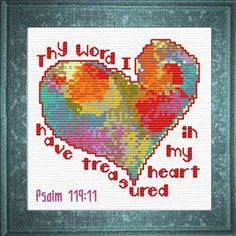 Free Cross Stitch Designs featuring Bible Verses, Free cross-stitch charts, Stitch a gift of encouragement and praise, Free charts and Stitching Instructions Cross Stitch Designs, Cross Stitch Patterns, God's Heart, Daily Scripture, Let Your Light Shine, Cross Stitch Heart, Favorite Bible Verses, Christian Inspiration, Cross Stitching