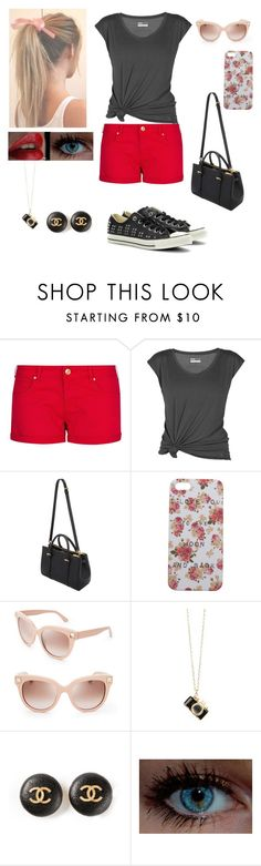 """""""Sem título #64"""" by bibikadreams11 ❤ liked on Polyvore featuring MANGO, Lija, Mulberry, Wet Seal, Valentino, Chanel and Converse"""