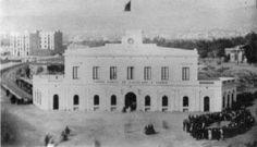 Original Plaça Catalunya railway terminus (picture from 1865)