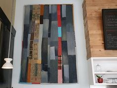 Coffee sack and denim quilt