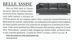 Canapés Duvivier - Madame Figaro 25 mars détail