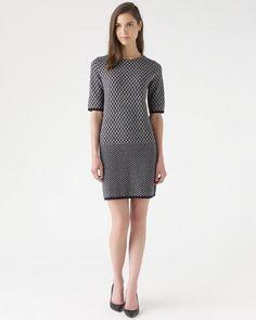 #jigsawaw14,Knit Geometric Shift Dress