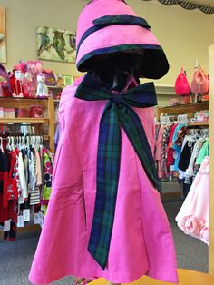 Cloak and bonnet from The Children's Shop