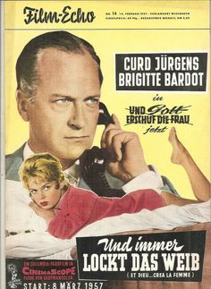 BRIGITTE BARDOT CURD JURGENS REVUE MADE IN GERMANY FILM-ECHO- ET DIEU..CREA LA F
