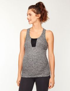 Beyond the Bump By Beyond Yoga A Pea in the Pod Scoop Neck Ruched Maternity Tank Top