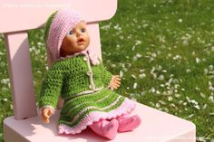 DIY : herbstliche Puppensachen häkeln - Mütze, Jäckchen und Rock, mit kostenloser Anleitung