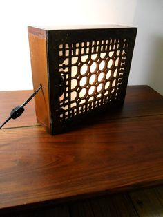 Floor grate table lamp by auctionannie