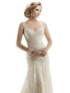 Dream Angel Appliques Backless Lace Sheath Wedding Dresses Ivory US Size 16