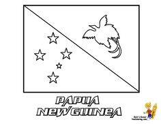 i love papua new guinea flag square sticker papua new guinea pinterest flags