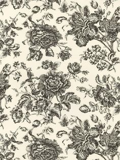Interior Place - Black Rose Toile Wallpaper, $40.50 (http://www.interiorplace.com/black-rose-toile-wallpaper/)
