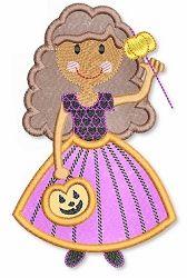 Pumpkin Princess Curly App 2 Sizes   Halloween   Machine Embroidery Designs   SWAKembroidery.com Lynnie Pinnie