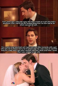 Jim & Pam, I cry every time I watch this episode.