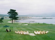 pebble beach wedding by lovely little details, photos by tanja lippert, featured on martha stewart weddings