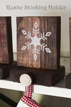 Rustic and easy stocking holders! #decoartprojects #chalkyfinish