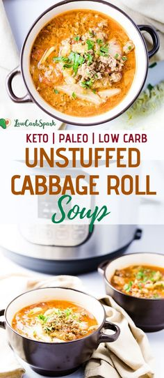 This Unstuffed Cabbage Roll Soup is budget-friendly, nutrient-dense and super easy to make. Also a dish great for meal prep! This Unstuffed Cabbage Roll Soup is budget-friendly, nutrient-dense and super easy to make. Also a dish great for meal prep! Low Carb Keto, Low Carb Recipes, Cooking Recipes, Healthy Recipes, Tuna Recipes, Chicken Recipes, Vegetarian Recipes, Keto Foods, Keto Meal
