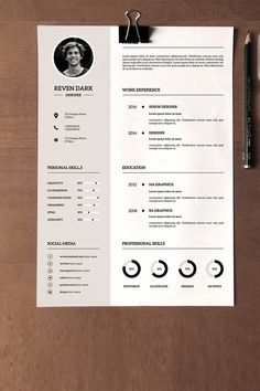 Clean & Professional Resume Template File information: Size: Pages: 2 pages R ---CLICK IMAGE FOR MORE--- resume how to write a resume resume tips resume examples for student Resume Design Template, Business Plan Template, Cv Template, Resume Templates, Portfolio Web, Cv Original, Cv Inspiration, Graphic Design Resume, Professional Resume Design