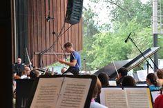 Britt Orchestra rehearsal with conductor Teddy Abrams. #brittfestivals #teddyabrams #classical