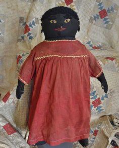 Spectacular Antique 19th Century Americana Folk Art Doll 24 in. * #Americana