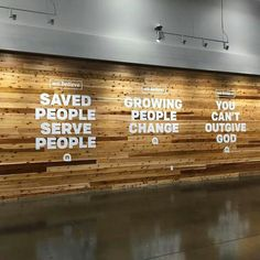 Mission statement wall Newspring church.