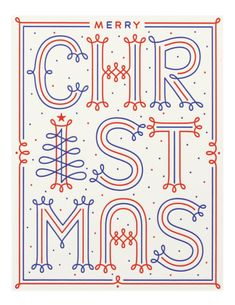 Merry Christmas letterpress card by Martina Flor Goods