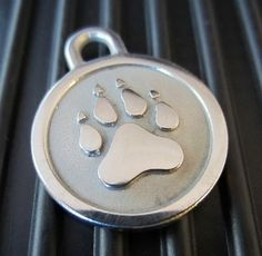 Medium Stainless Steel Dog ID Tag that will not fade or rust.
