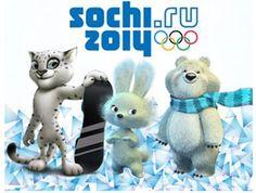 Leopard, Bely y Mishka,mascotasde los Juegos Olímpicos de invierno Sochi 2014,Rusia
