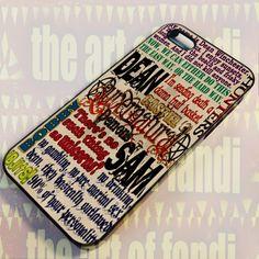 Supernatural_Quotes For iPhone 4 or 4s Black Rubber Case | TheArtOffandi - Accessories on ArtFire